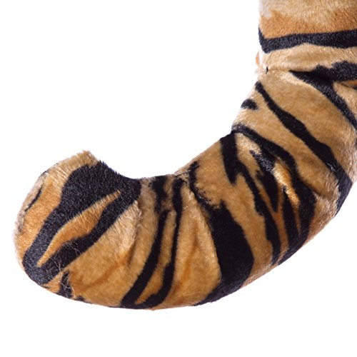 Life-like Tiger Tail Clip-On Accessory for Tiger Cosplay, Tiger Costume, Pretend Animal Play or Zoo Animal Party Costumes