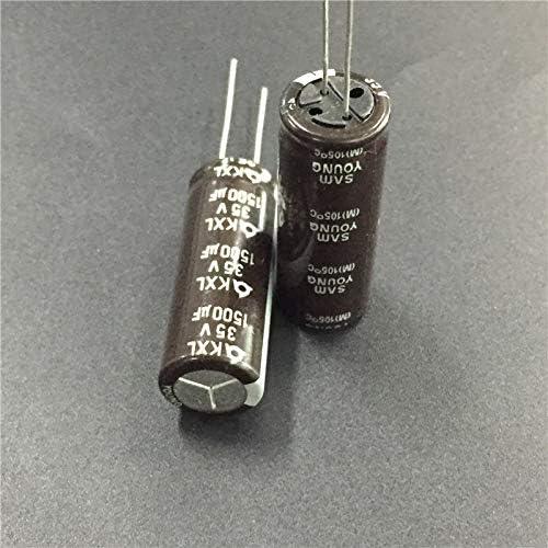 10PCS 1500uF 35V SAMYOUNG KXL series 12.5x33mm Baja impedancia Larga vida 35V1500uF Condensador electrol/ítico de aluminio