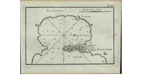 Amazon Com Saragosa Syracuse Sicily Italy 1764 Roux Antique