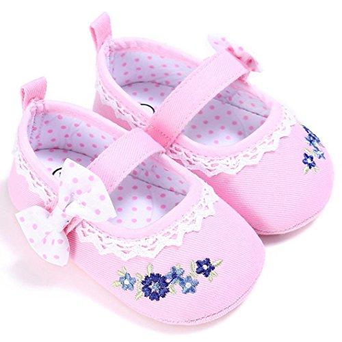 BZLine® Baby Kleinkind Kinder Mädchen weichen Sohle Krippe Kleinkind Schuhe Pink