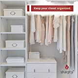 Sharpty White Plastic Hangers, Plastic Clothes