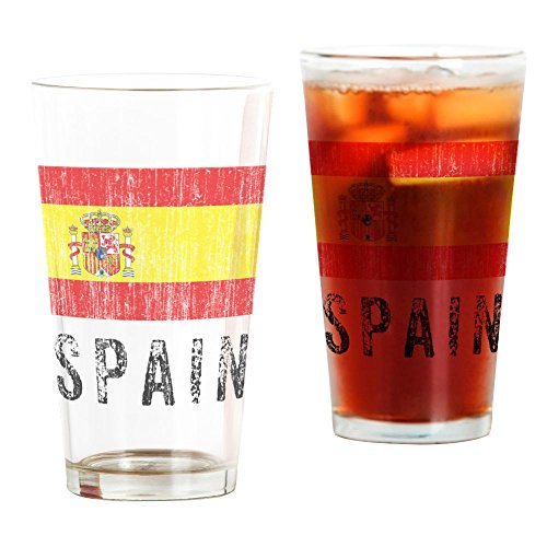 CafePress - Vintage Spain - Pint Glass, 16 oz. Drinking Glass by CafePress