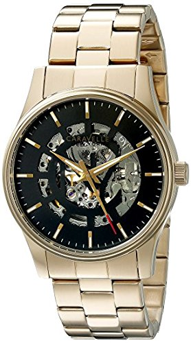 Caravelle New York Men's 44A107 Analog Display Mechanical Hand Wind Gold Watch