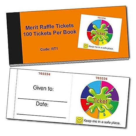Amazon.com: Easy-Tear Palette Raffle Tickets x 100 - Primary ...