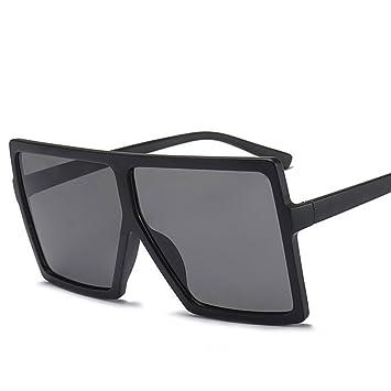 8aab029f7a YANKAN Lentes Marco Gafas de Sol Grandes Cuadrados Gafas de  Sol-Anti-Ultravioletas de Mujer-para Caminar la Ciudad o al Aire Libre:  Amazon.es: Jardín