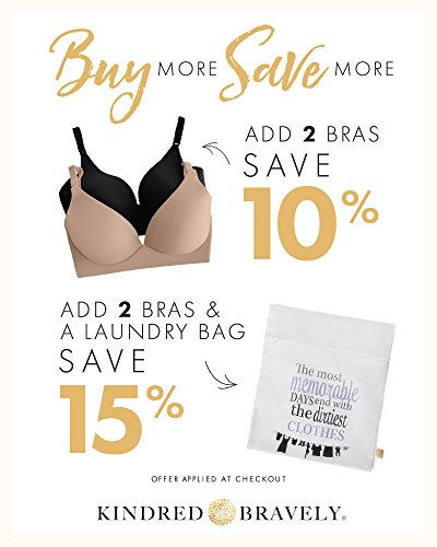 Kindred Bravely Marvella Classic Maternity & Nursing Underwire Free Bra for Breastfeeding (Beige, 34D) by Kindred Bravely (Image #2)