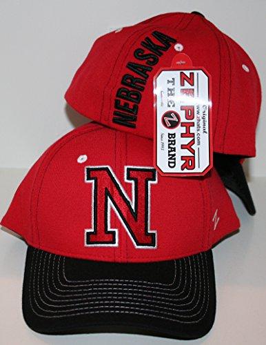 - ZHATS Nebraska Cornshuskers Red Impact Fitted Hat Size M/L