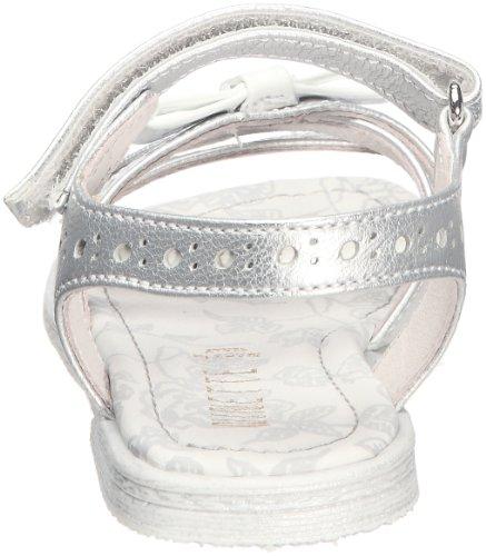 Ninette en Fleur Pounette Mädchen Sandalen Silber - Argent (Inox argent laca bianca)