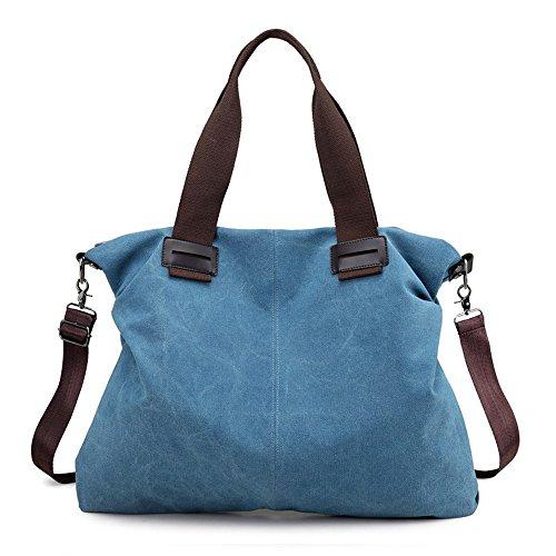 Damas Lona Blue Nueva Bolsos Moda Gris De GWQGZ De F6w1pxnCq