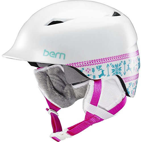 Bern Camina Youth Snow Helmet Satin White Snowflake XS/S