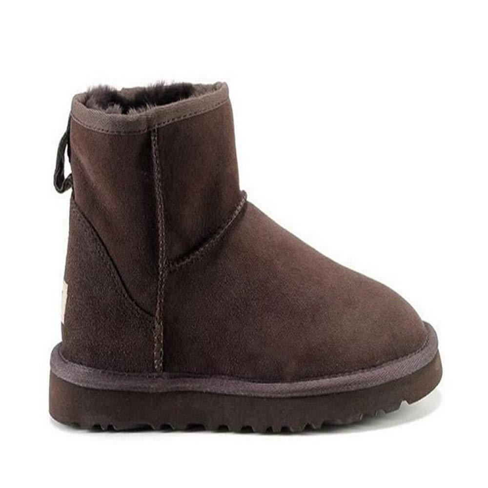 QLG Damenstiefel Stiefel Winter Schneeschuhe Weibliche Verdickung Schnalle Warm Und Einfarbig Schuhe Rutschfeste Frauen Baumwolle Schuhe