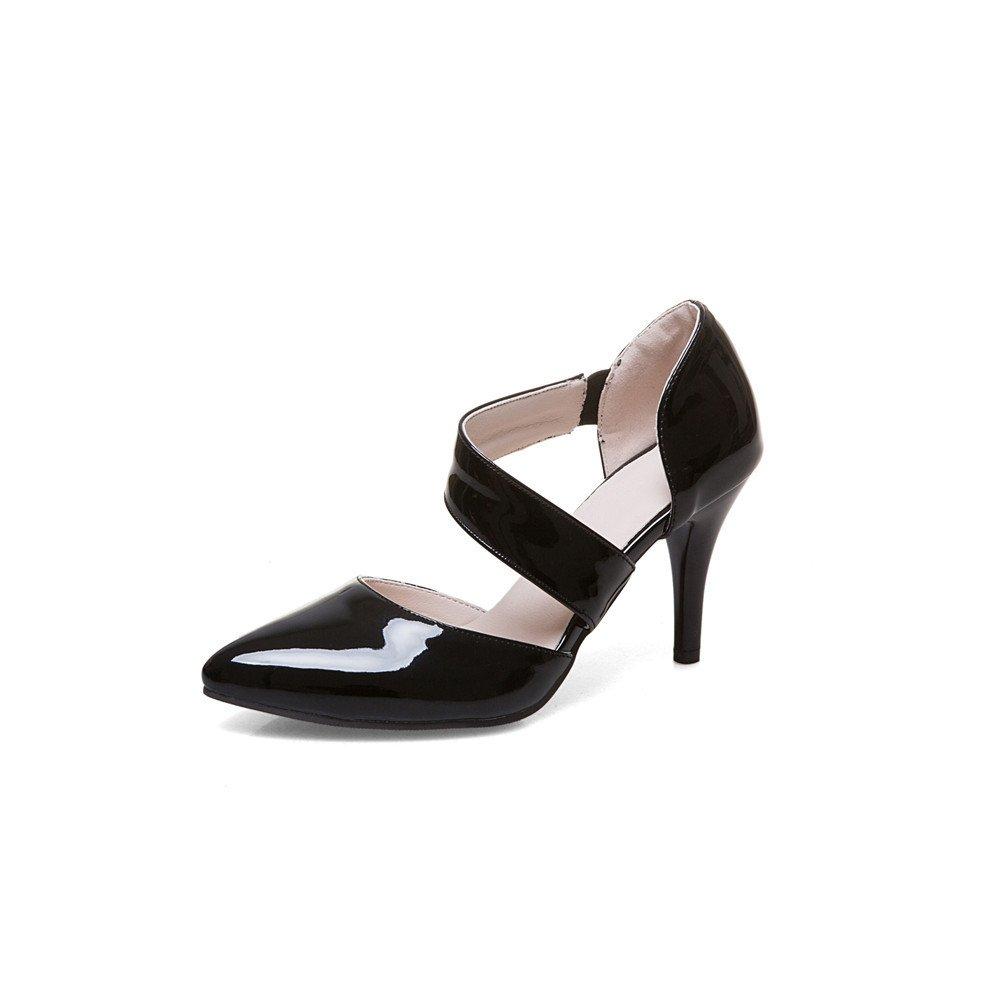 QIN&X Sandalen   Damen Schuhe Pumps Riemchen Sandalen QIN&X schwarz 26d181