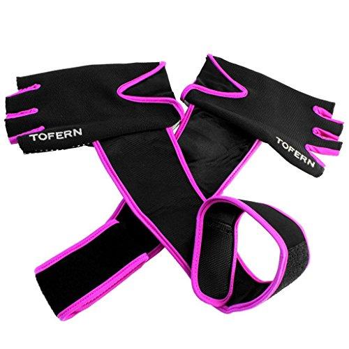Ladies haltérophilie gants de conditionnement physique à long poignet Gants enveloppants pour Gym Fitness