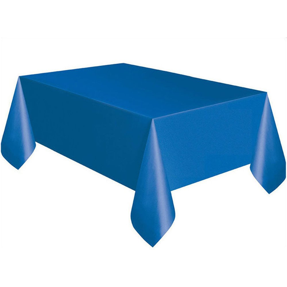 DATEWORK 大型プラスチック製長方形テーブルカバー 布 拭いて綺麗に パーティー用テーブルクロスカバー ブルー DWDW190119  ブルー B07N2HKDH7