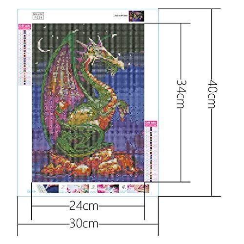 Onefa 5D Diamond Painting Kit Full Drill DIY Rhinestone Embroidery Cross Stitch Arts Craft for Home Wall Decor