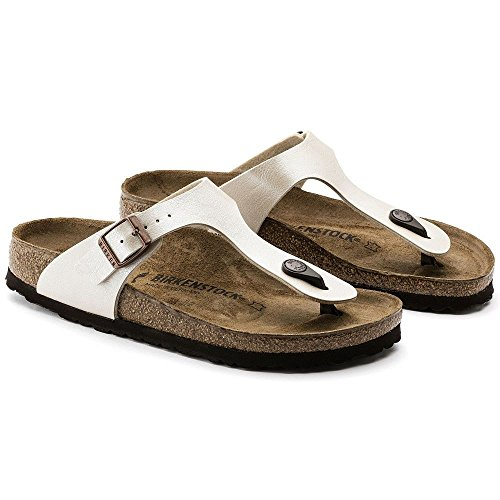 Birkenstock BIRK-943873-Wht NARROW FIT-38 M US Gizeh White by Birkenstock (Image #4)