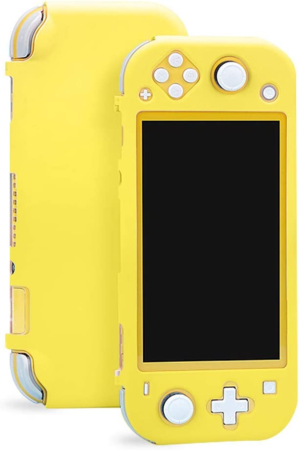 Sunooma Switch Lite Case,Protective Hard Shell,Colorful Case Cover,Hard Cover Back Grip Shell For Nintendo Switch Lite 2019 (Yellow)