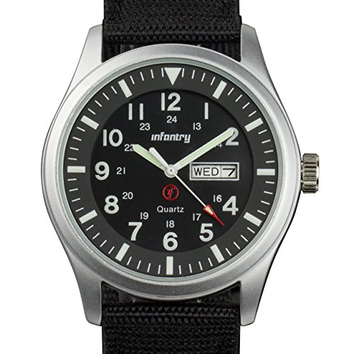 INFANTRY+Mens+Army+Military+Field+Analog+Watch+Simple+Quartz+Wrist+Watches+for+Men+Nylon+Strap+Day+%26+Date
