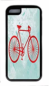 Black Case,Fashion Slim Fit Protector Red Bicycle Custom Protective attractive and unique Back Case Cover for iphone 5C Kimberly Kurzendoerfer