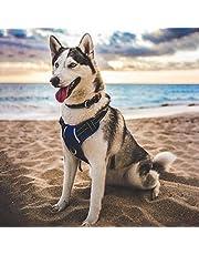 Babyltrl Large Blue Dog Harness No Pull Adjustable Pet Reflective Oxford Soft Vest for Large Dogs Easy Control Harness (Dog Collar Included)