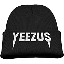 Babala Kanye West Yezzus Children Knitted Beanie Cap Hat Skull Cap Hat Black