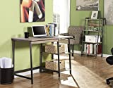 Homestar Gemelli Desk with Book case Combo, Distressed Mocha Finish