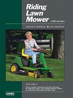 riding lawn mower service manual 4th edition clymer pro rh amazon com LT4200 Huskee Manual MTD Riding Lawn Mowers Manuals