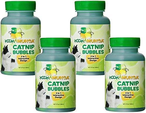 Kookamunga Krazee Kitty Catnip Bubbles, 5 Ounce each (4 (Kookamunga Catnip Bubbles)
