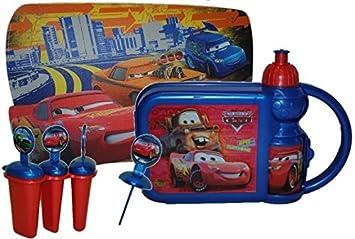 Cars Set Brotbuchse Trinkflasche Unterlage Eis Lolly Kuche