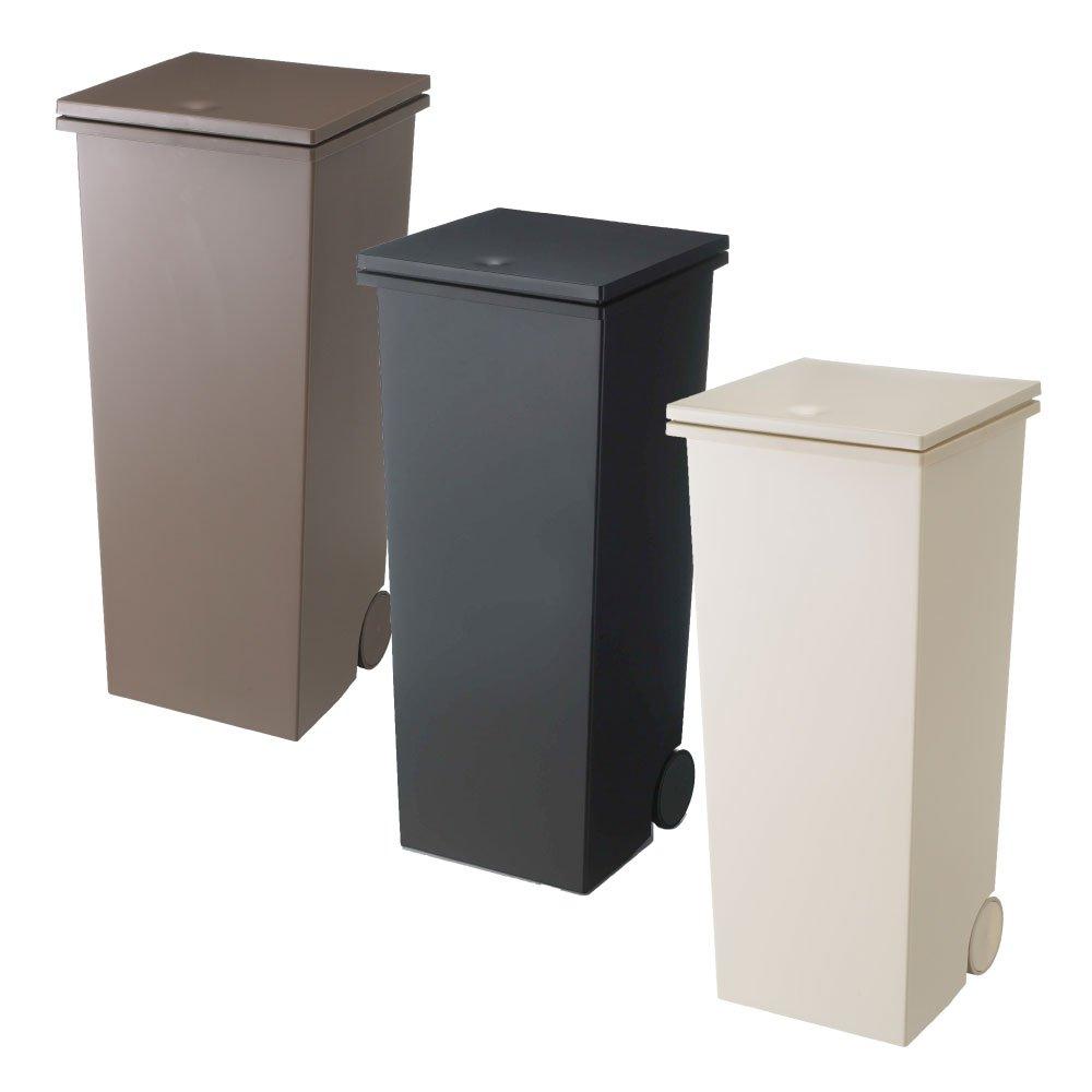 岩谷マテリアル kcud スクエア プッシュペール 3個セット ゴミ箱 ごみ箱 ダストボックス おしゃれ ふた付き クード (オールブラウン×Kブラック×オールベージュ) B0742B1RSJ オールブラウン×Kブラック×オールベージュ オールブラウン×Kブラック×オールベージュ