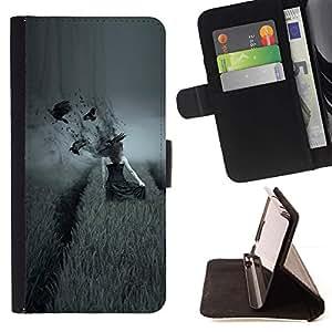 """lado oscuro Vorony polo devushka"""" Colorida Impresión Funda Cuero Monedero Caja Bolsa Cubierta Caja Piel Id Credit Card Slots Para LG G3"""