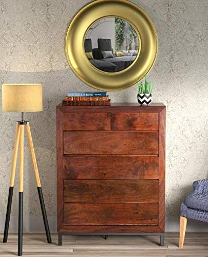 Shilpi Handicrafts Chest of Six Drawers Made in Premium Quality Sheesham Wood Sideboard Storage Cabinet for Living Room