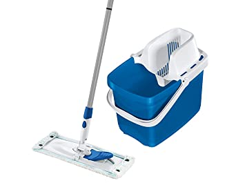 Leifheit 52085 Set Combi Clean M Pure Blue Set Bodenwischer Metall