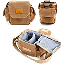Light Brown Small Sized Canvas Carry Bag - Compatible with the Nextbase In Car Dash Cam 212 | Dash Cam 312GW Lite | Dash Cam 402G (with BONUS Cleaning Cloth) – by DURAGADGET