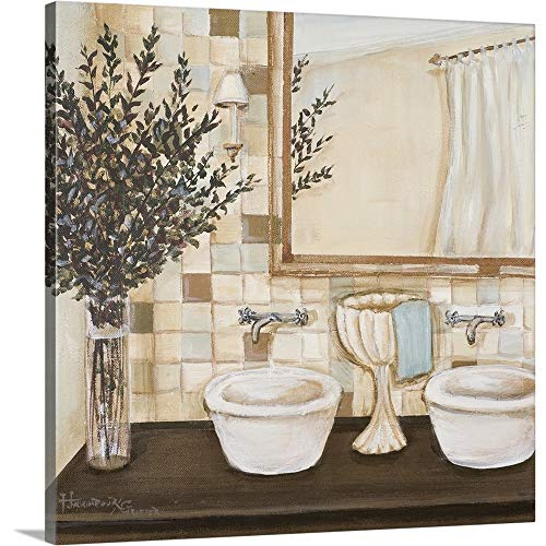 Premium Thick-Wrap Canvas Wall Art Print Entitled Zen Bath I -