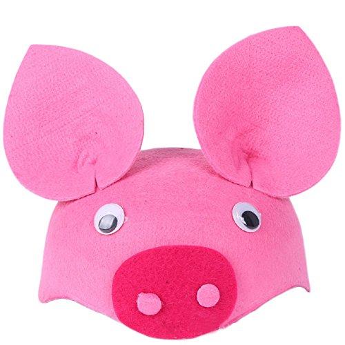 Per Halloween Cartoon Animal Headdress Hat Kindergarten Cap Prop Gift for Children Toddler(Pink pig)