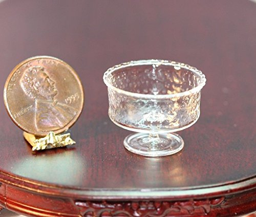 - Dollhouse Miniature Artisan Clear Glass Crystalline Bowl by Philip Grenyer