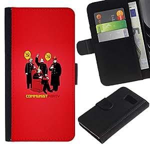 // PHONE CASE GIFT // Moda Estuche Funda de Cuero Billetera Tarjeta de crédito dinero bolsa Cubierta de proteccion Caso Sony Xperia Z3 Compact / FUNNY - HILARIOUS COMMUNIST PARTY /