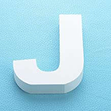 """Large Wooden Hanging Wall Letters """"J"""" - White Decorative Wall Letter Marquee Letters for Children's Nursery Baby's Room, Baby Name and Girls Bedroom Décor"""