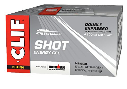 CLIF SHOT - Energy Gel - Double Expresso Flavor - With Caffeine (1.2 Ounce Packet, 24 Count)