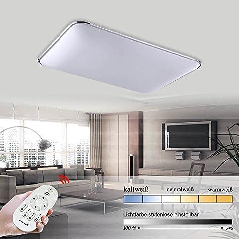 Hengda® 96W LED Dimmbar Lichtfarbe Und Helligkeit Einstellbar Deckenlampe  2700 6500K Leuchte Deckenleuchte IP44