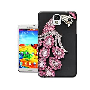 Poh2014 Unique & Pretty Peacock Crystal brooch Design Snap On Great Hard Protective Case Cover Fit For Samsung Galaxy Note3