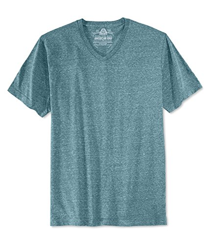 American Rag Mens Solid Basic T-Shirt Blue XS
