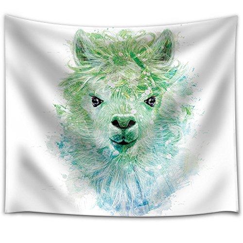 Fun and Colorful Splattered Watercolor Llama
