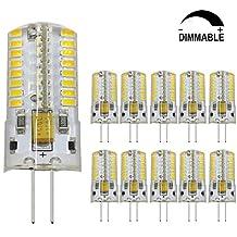 Dayker 4W G4 LED Bi Pin Bulb Dimmable Jc Type G4 Base Lightbulb AC/DC 12V Warm White for Closet Lights, Under Cabinet, Landscape Lighting, Auto, RV Lighting(10 Pack)