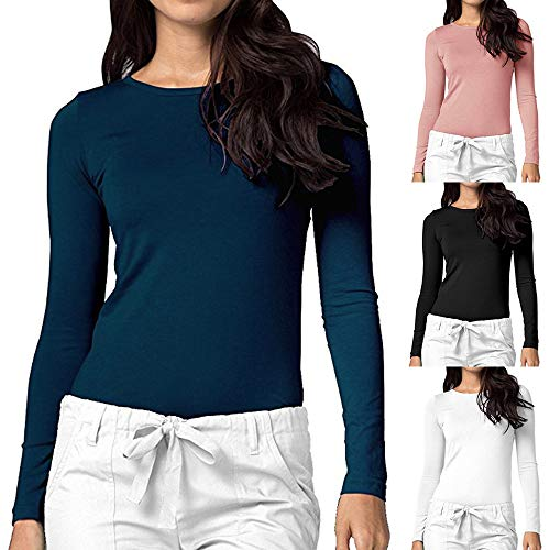 Casual Automne Femmes Longues Vicgrey Chemisier Casual Chemises Tops T Chemise Elégant Noir Tshirt Manches Longues Pulls Manches Unicolore Tshirt 0xOp1xw