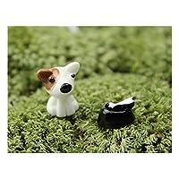 JxucTo Süße Fee Miniatur Nette Tiere Hund Micro Landschaft Dekoration Garten Handwerk Ornamente DIY Dekoration (Braun)