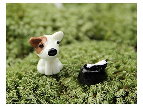 XDXDWEWERT Miniatura Animales Lindos Perro Micro Paisaje Decoración Adornos Artesanía de Jardín Decoración de DIY (Marrón)