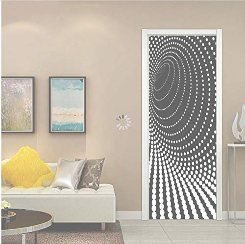 QiZhan541 Door stickerCreative 3D Dazzle Point Door Sticker DIY Home Decor Decals Self Adhesive Wallpaper Waterproof Mural for Bedroom Door Renovation 77×200cm