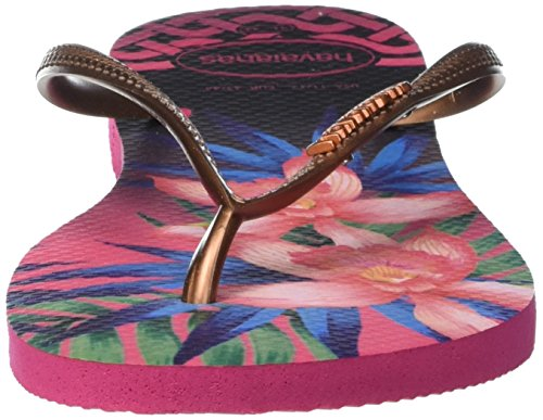 Havaianas HAV. SLIM TROPICAL - Sandalias de goma para mujer Multicolor (Rose 0046)